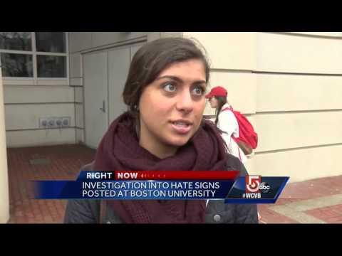 Hateful messages posted around Boston University