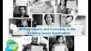Writing Concisely in the Echoing Green Fellowship Application