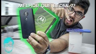 Esse é o melhor até R$700? Moto G7 Play! Será que toma o lugar do Redmi 7? | Unboxing e Comparações