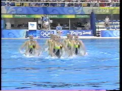 Russia Synchronized swimming 2008 Olympics Team TR