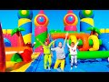 Vlad and Nikita in The World Biggest Bounce House for kids