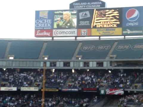 A's pay tribute to slain Oakland police at home opener