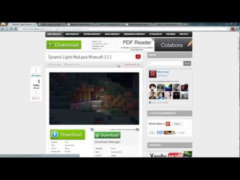 Como Descargar Dynamic Lights Mod Para Minecraft 1.5.1. 1.5.2. 1.6.2 y 1.6.4