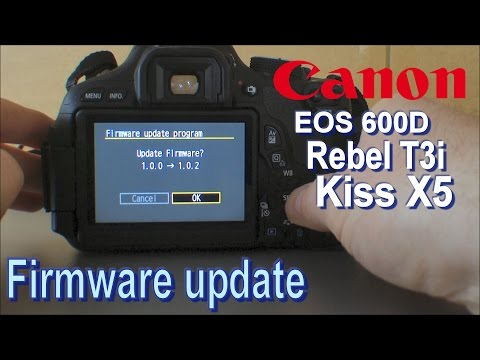 How to upgrade the firmware of a canon eos dslr camera
