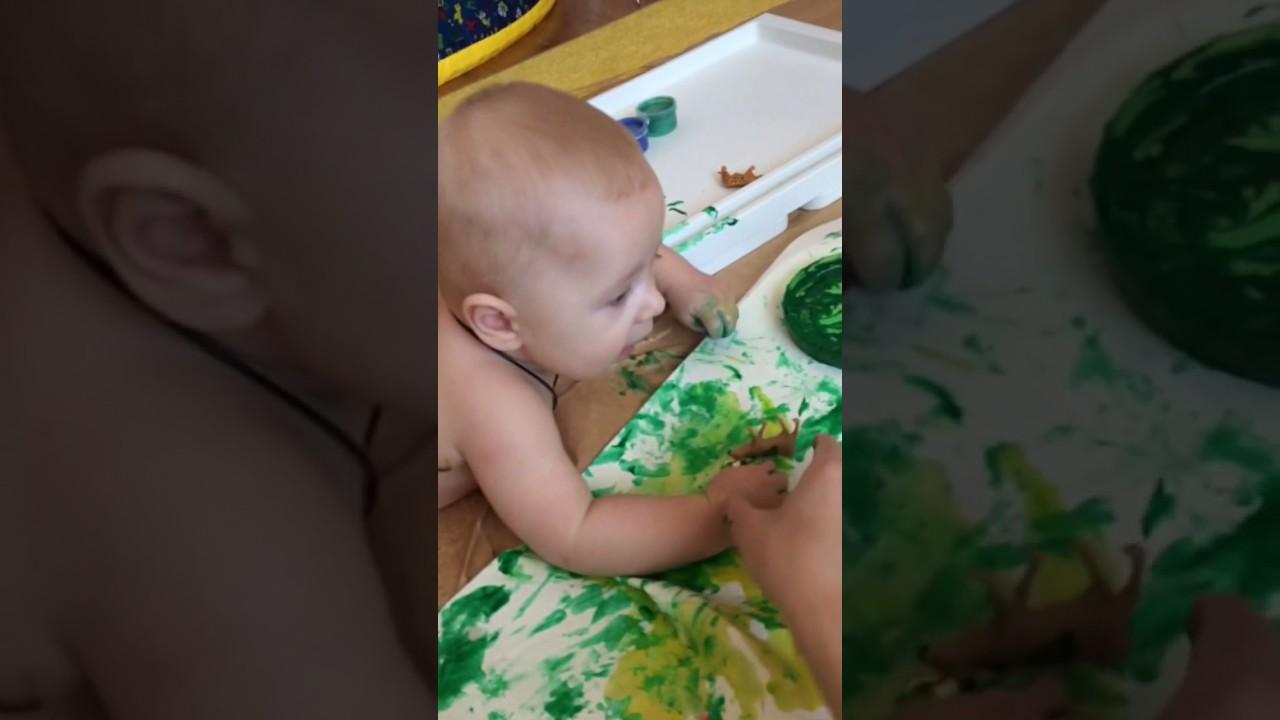 Пальчиковые краски для малышей до года своими руками 64