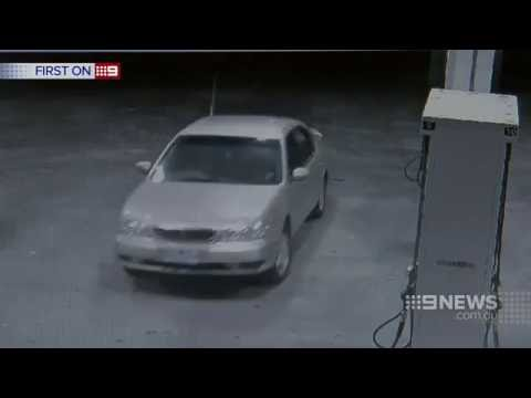 CCTV shows a man hijacking a woman's car at petrol station   Daily Mail Online