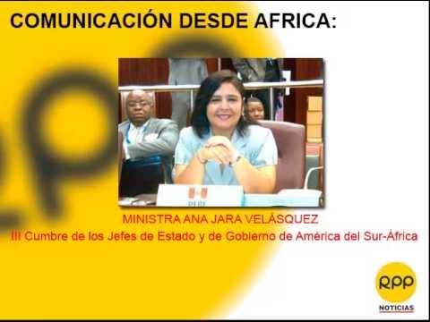 Desde África: Declaraciones de la Ministra de la Mujer Ana Jara