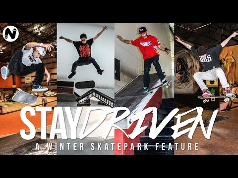 """STAY DRIVEN"" A WINTER SKATEPARK FEATURE - NEW BEGINNINGS"