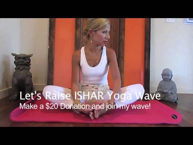 Deniz Silver does a full lotus! Let's Raise ISHAR Yoga Wave - Deepak Chopra