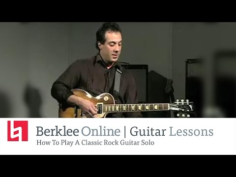 Play A Classic Rock Guitar Solo - Guitar Lesson