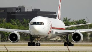 {TrueSound}™ ABX Air Action! Boeing 767-200 Thundering Takeoff and Overhead at Miami
