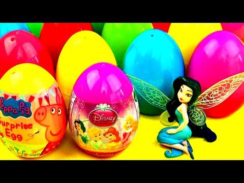 Peppa Pig Surprise Eggs Disney Princess Frozen My Little Pony Flintstones Dora Spongebob FluffyJet