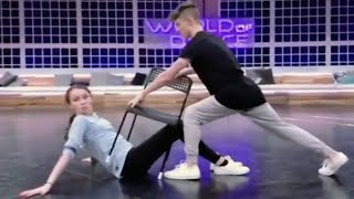 Josh and Taylor world of dance rehearsals, Taylor Hatala ,Josh Beauchamp