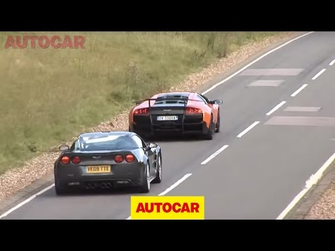 Corvette ZR1 vs Lambo SV by autocar.co.uk