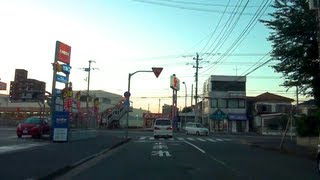 Driving in Japan - Narrow Streets & Residential Areas ~Evening~ 2/2