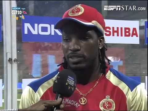 Nokia CL T20, Match16: Interview Gayle