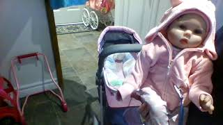 How to make your reborn look real in a play stroller TIPS AND TRICKS + tips also work for a carseat