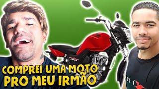 COMPREI UMA MOTO PRO MEU IRMÃO    VLOG 117