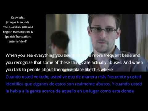 Edward Snowden whistleblower interview transcription Español