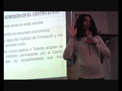 Conferencia sobre  proyecto de niños y jóvenes sordos en el Congo (África)