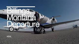 Private jet flying in Montana....Billings to Great Falls
