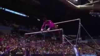 Simone Biles Uneven Bars Slow Motion