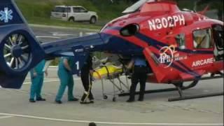 Emergency Helicopter Lands at Hospital - iNOVA Fairfax Hospital