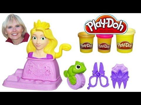 ♥♥  Play-Doh Disney Princess Rapunzel Hair Designs Set