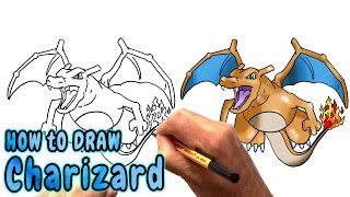 How to Draw Charizard from Pokemon (NARRATED)