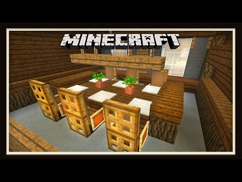 Minecraft: Dining Room Furniture Design   ( How To Build A House -  part 8)