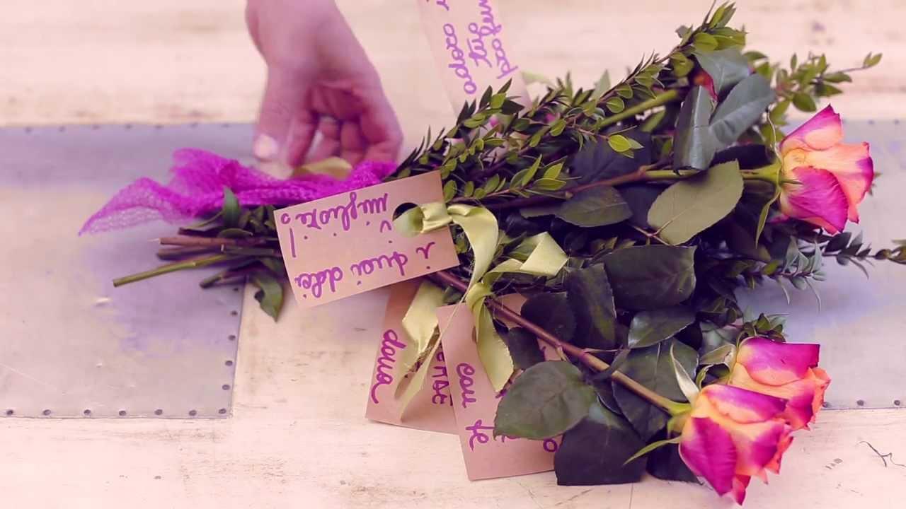 un mazzo di fiori personalizzato youtube