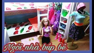 Giới thiệu Ngôi nhà búp bê tự làm cho búp bê Barbie/ Barbie dollhouse Tour / Ami DIY