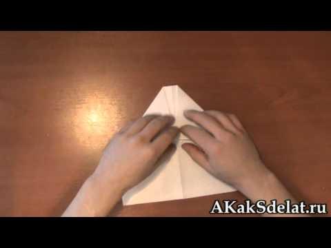 Как из бумаги сделать самолет
