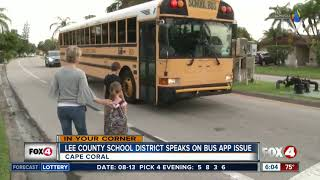 School bus app issues frustrating parents in Lee County