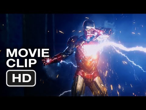 The Avengers Movie CLIP #5 - Iron Man vs Thor - Marvel Movie (2012)