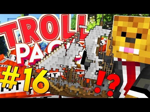 AIRSHIP PRANK (STEALING A HOUSE) - Minecraft TROLL PACK #16
