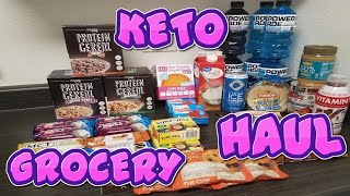 KETO GROCERY HAUL! CEREAL, COOKIES, QUEST HERO, MCT BARS, KETONES, LOW CARB PEANUT BUTTER, AND MORE!