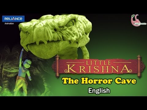 LITTLE KRISHNA ENGLISH EPISODE 3 THE HORROR CAVE ANIMATION SERIES...