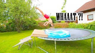 SWIMMINGPOOL ON A TRAMPOLINE