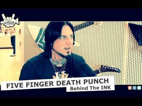 Five Finger Death Punch - Behind The Ink W  Jason Hook  Gibson Showroom Berlin   Www.pitcam.tv video