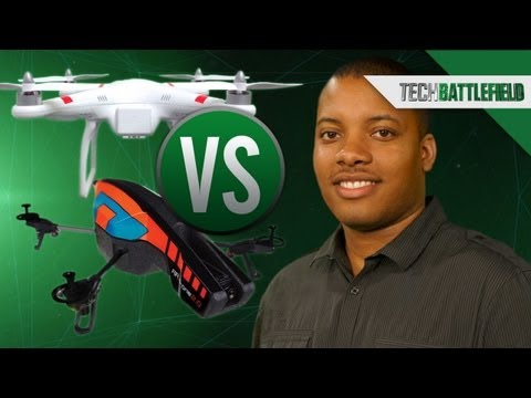 DJI Phantom vs Parrot AR 2.0 - Quadcopter Drone Battle! - Soldier's Tech Battlefield