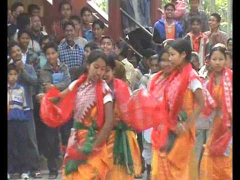 'bagurumba' Bodo Tribal Dance, Assam, India, High Definition video