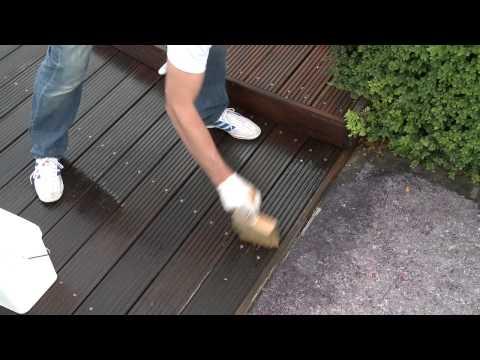 Houten vlonders reinigen