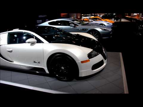 Bugatti Veyron Blanc Noir at New York Auto Show