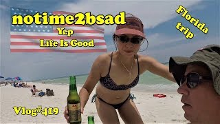 Vlog#419 Florida Trip from Thailand. Life is Good.