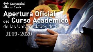 Solemne Acto de Apertura del Curso Académico 2019-20 · 13/09/2019