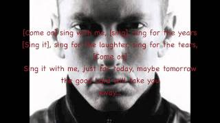Eminem - Sing For The Moment (Lyrics) HD