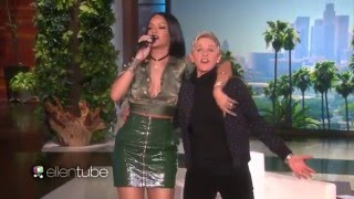 Rihanna Covers Bon Jovi's 'Livin On A Prayer' Live At Ellen DeGeneres 2016 - HD