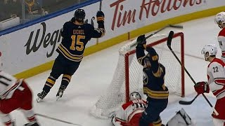 Jack Eichel in right place at right time to tap in easy rebound