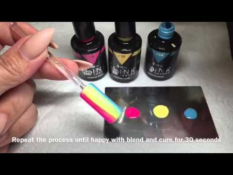 Check Plaid design using INK London ilac gel polish